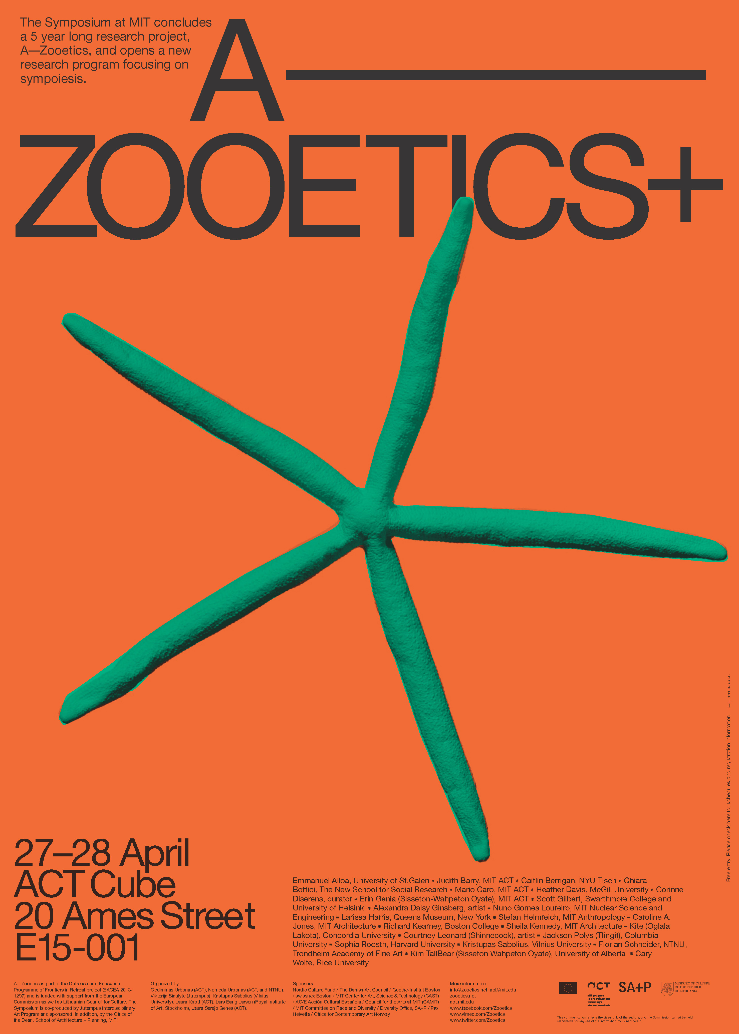 Zooetics Symposium At MIT Program In Art Culture And Technology